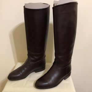 Stunning kid skin leather riding dress boot size 4